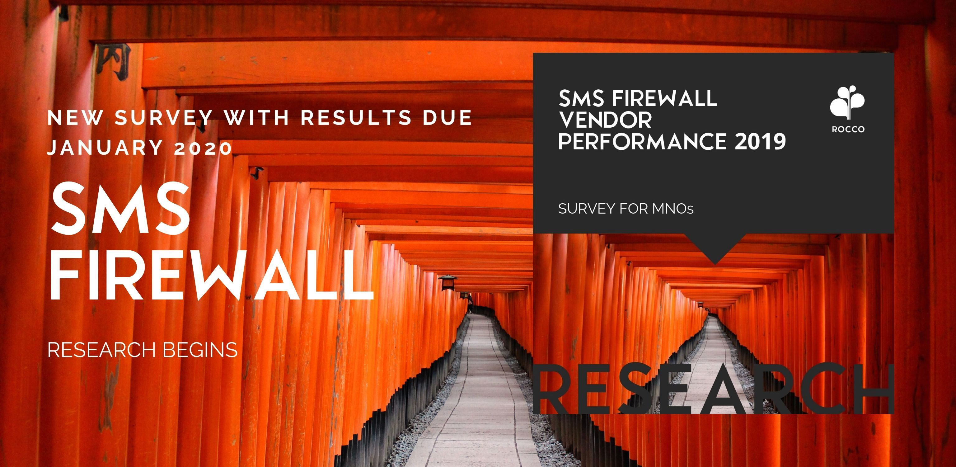 LAUNCH: SMS FIREWALL VENDOR PERFORMANCE 2020